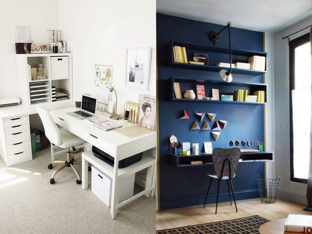 Colour scheme for desk organisation and decoration
