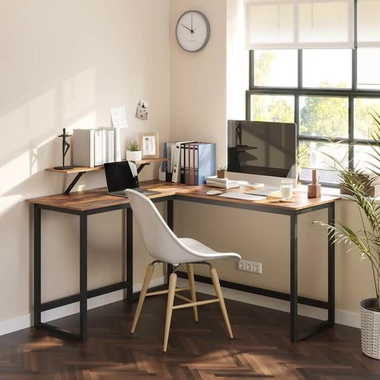 Place your desk near to the window or natural light